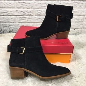 NEW Kate Spade Taley Suede Ankle Boots Booties 7